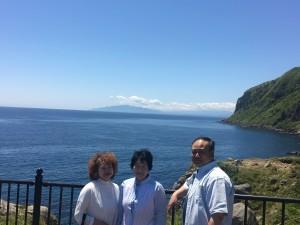 良い天気!真っ青な空、海